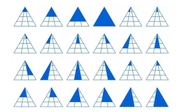 Сколько здесь треугольников? (2 фото)