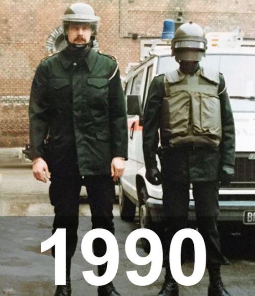 Австрийская полиция тогда и сейчас (2 фото)