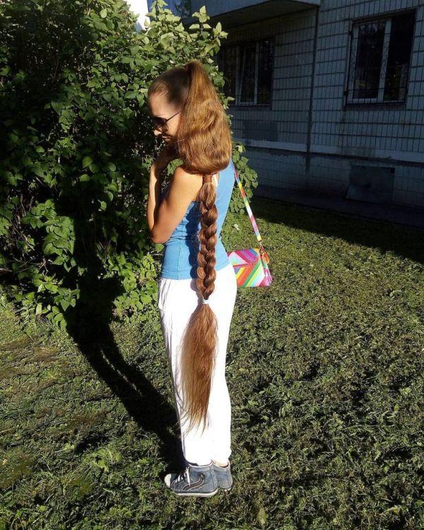 Дарья Губанова - русская Рапунцель из Барнаула (8 фото)