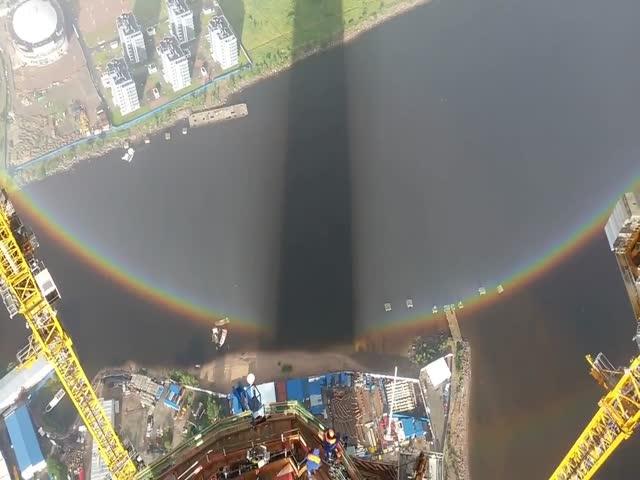 Круглая радуга в Санкт-Петербурге
