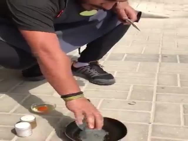 Как пожарить яичницу без огня