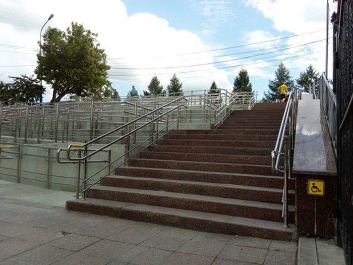 В Тюмени построили пандус-лабиринт (5 фото + видео)