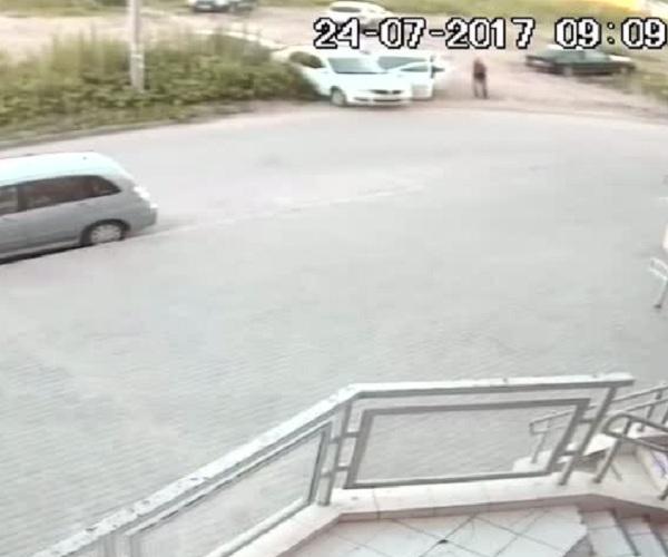 Умышленный наезд в Подольске