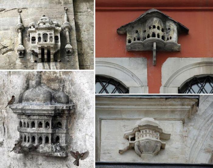 Необычные жилища для птиц на зданиях времен Османской империи (6 фото)