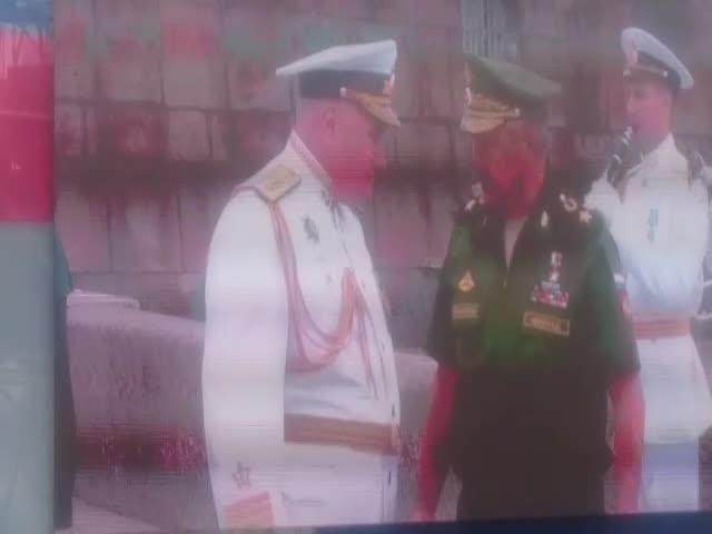 На репетиции парада в честь Дня ВМФ Сергея Шойгу назвали верховным главнокомандующим