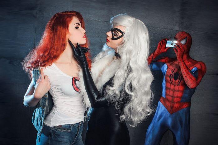 Косплей на «Человека-паука» и его женщин (13 фото)