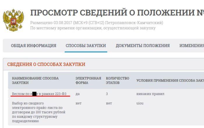 На сайте госзакупок обнаружили странную информацию (3 фото)