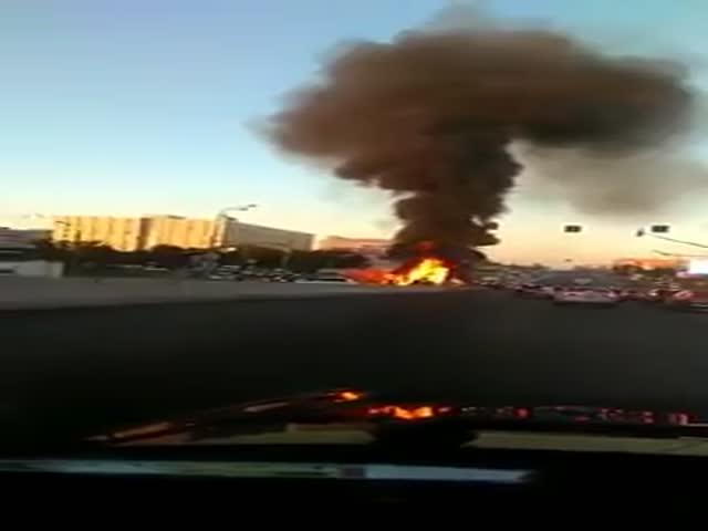 ДТП и пожар на Варшавском шоссе