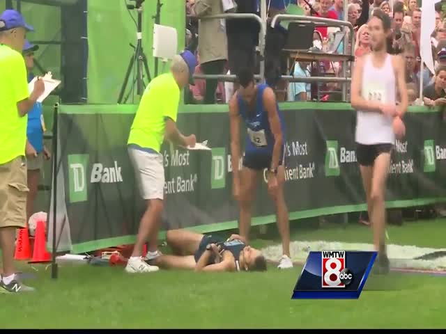 Бегун не воспользовался шансом отнять победу у лидера забега