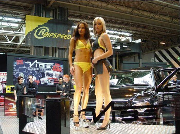 Девушки с автовыставок (38 фото)