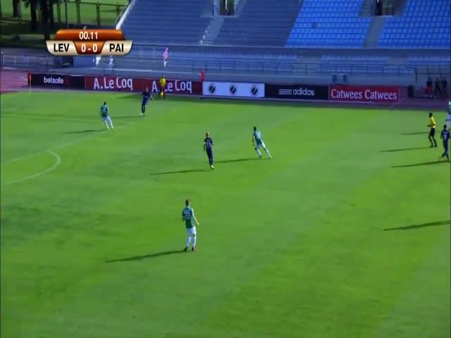 Курьезный автогол на 15-й секунде матча «Ливадия» - «Пайде»