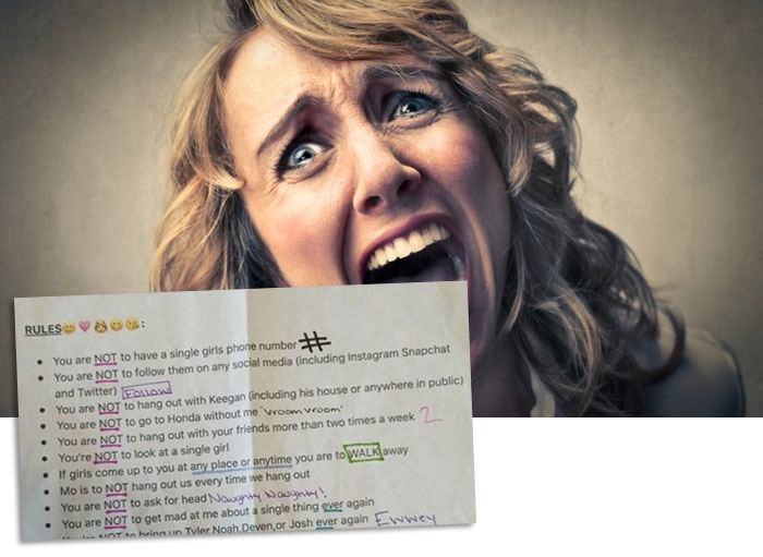 Девушка составила список требований к своему парню (фото)