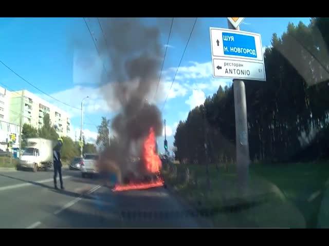 ДТП с возгоранием в Иваново