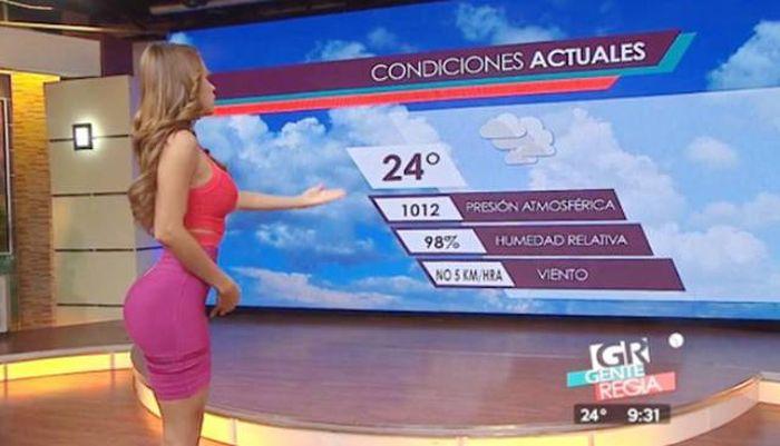 Янет Гарсия - ведущая прогноза погоды из Мексики (28 фото)