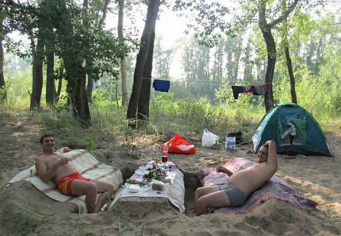 Мужчины умеют отдыхать (27 фото)