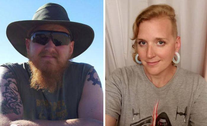 Трансгендеры до смены пола и после (25 фото)