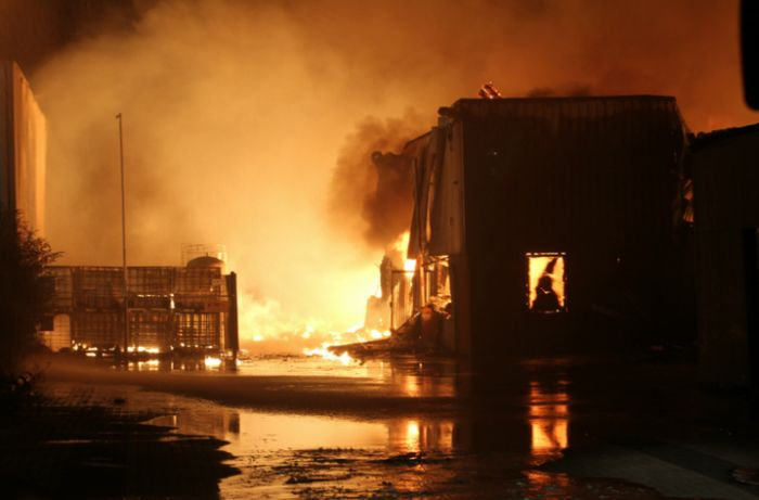В Москве более 60 пожарных расчетов тушили пожар на складе (14 фото + 3 видео)