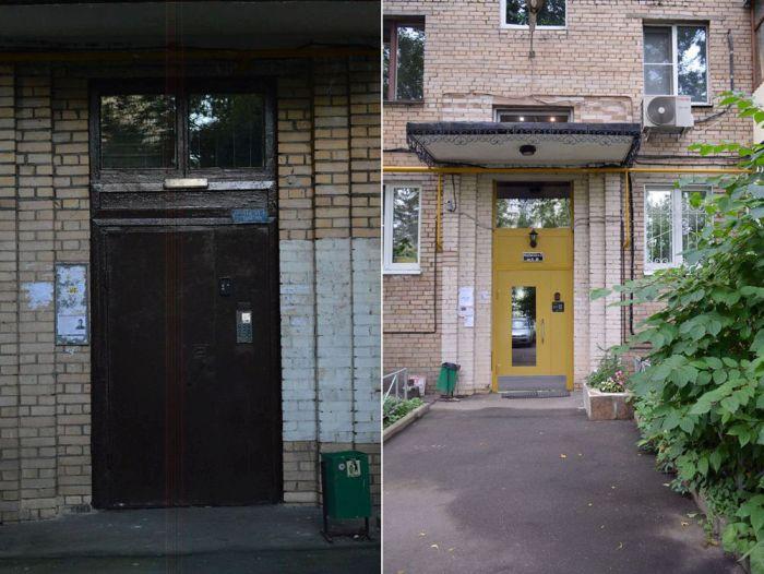 Преображение обычного российского подъезда (4 фото)