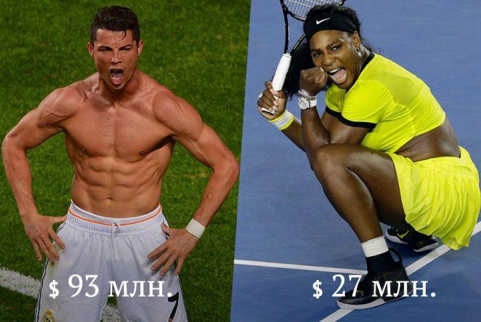 Сколько ежегодно зарабатывают известные спортсмены и спортсменки (10 фото)
