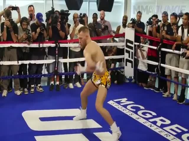 Разминка Конора Макгрегора привела к появлению флешмоба McGregor Challenge