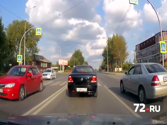 В Тюмени водитель проволочил пешехода по зебре