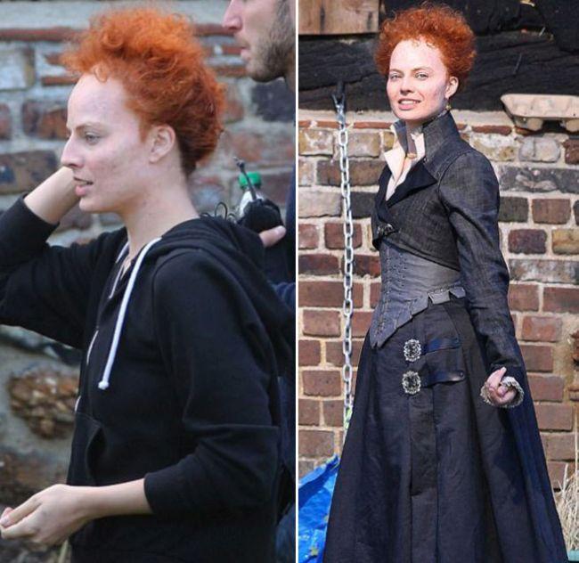 Спорим, вы не угадаете эту актрису в гриме (2 фото)