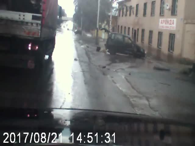 Пьяный водитель устроил серьезное ДТП