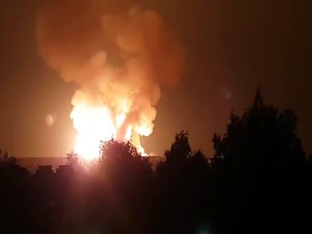 Взрыв и пожар на газопроводе в Нижегородской области