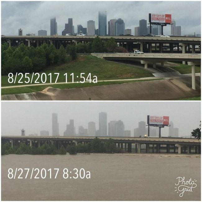 """Хьюстон до и после наводнения в стиле """"было - стало"""" (6 фото)"""
