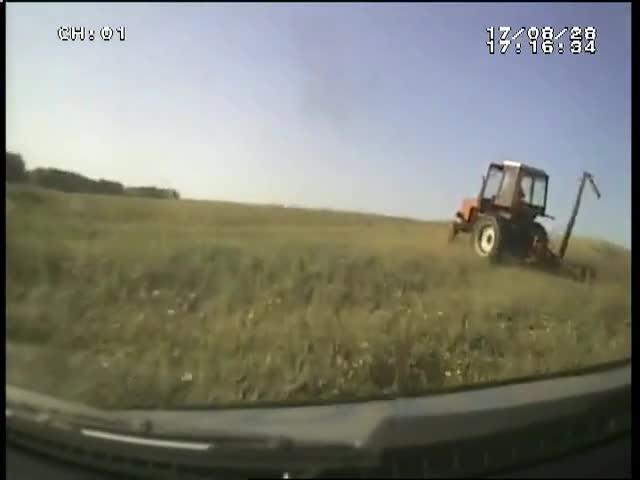 Полицейская погоня со стрельбой за пьяным сибирским трактористом
