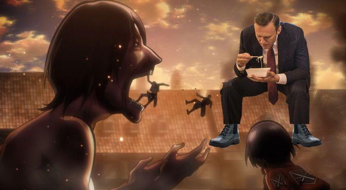 Навальный с лапшой «Доширак» стал героем фотожаб (27 фото)