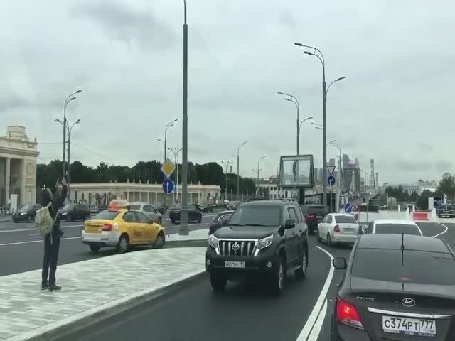 Неправильный съезд в Москве