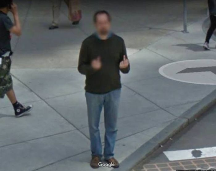 Странные и необычные фото на Google Street View (29 фото)
