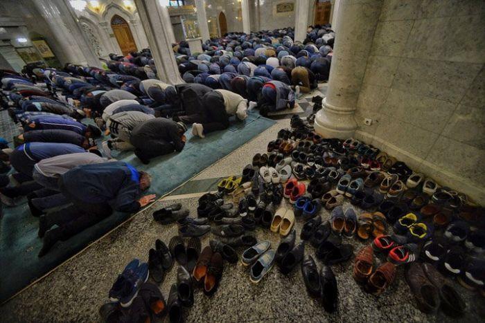 Московские мусульмане празднуют Курбан-Байрам (17 фото + видео)
