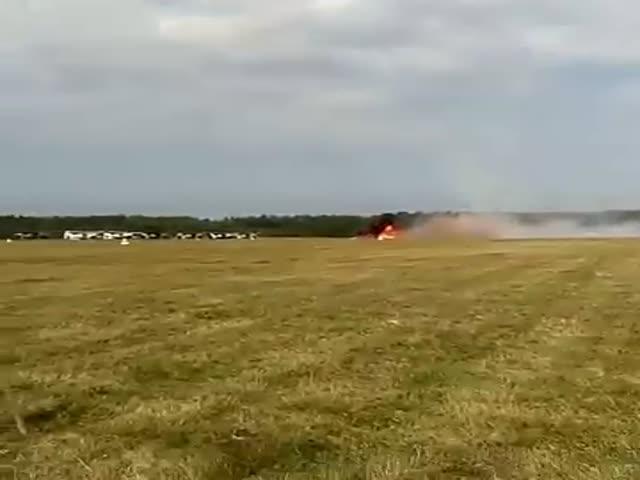 Крушение самолета Ан-2 на авиашоу в Балашихе