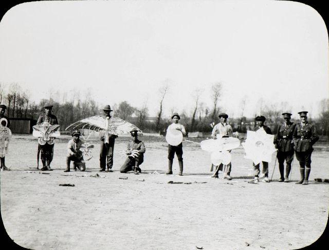 Китайские рабочие на передовой Первой мировой войны (13 фото)