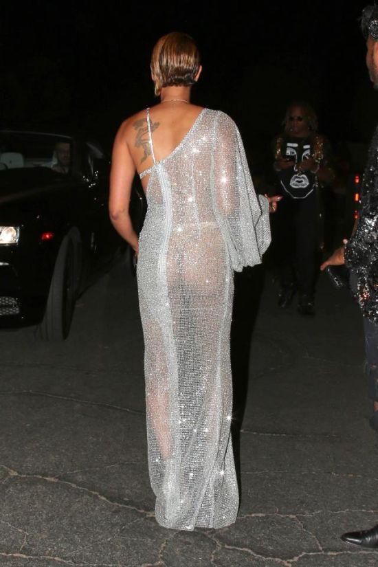Мелани Браун (Mel B) надела откровенное платье на концерт певицы Мэри Блайдж (6 фото)