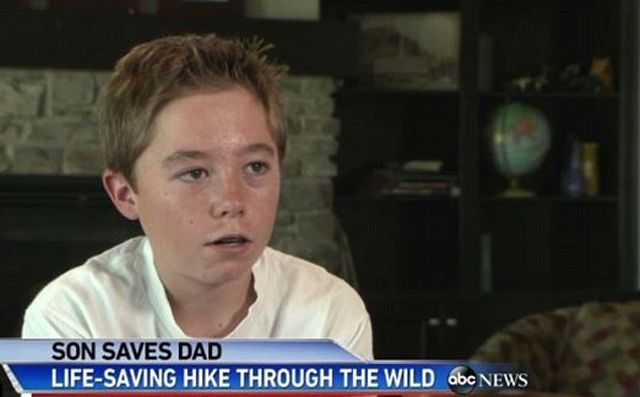13-летний мальчик спас отца (4 фото)