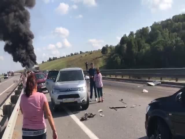 Крупная авария на трассе М-4 «Дон»