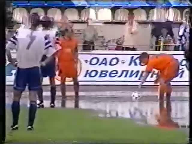 Эпичный угловой в матче «Шинник» - «Валенсия», 1998 год