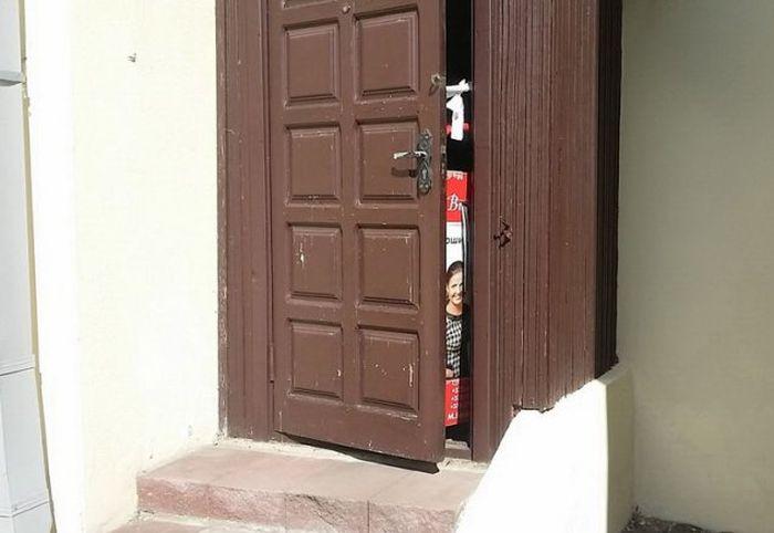 Приколы с дверьми (34 фото)