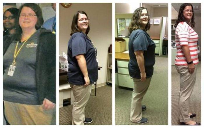 Люди делятся своими успехами в борьбе с лишним весом (16 фото)