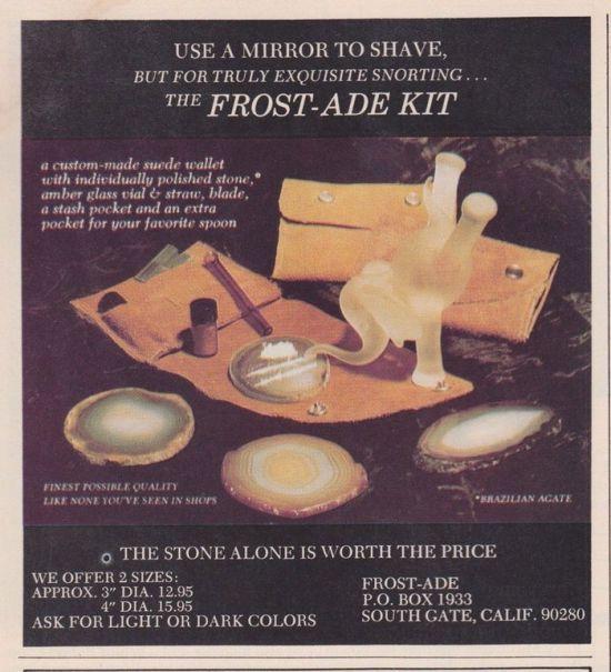 Реклама кокаина и аксессуаров в журналах 70-х - 80-х годов (9 фото)