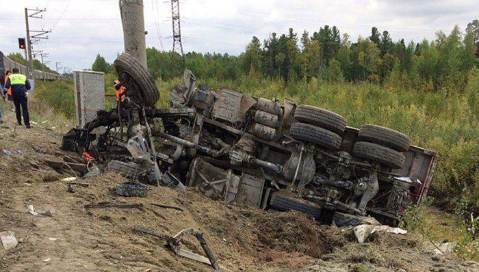 Пассажирский поезд Адлер - Нижневартовск столкнулся с грузовиком (6 фото + видео)