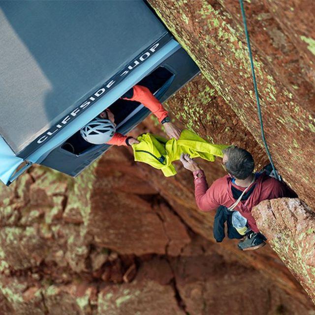 Подвесной магазин для скалолазов в каньоне Эльдорадо (6 фото)