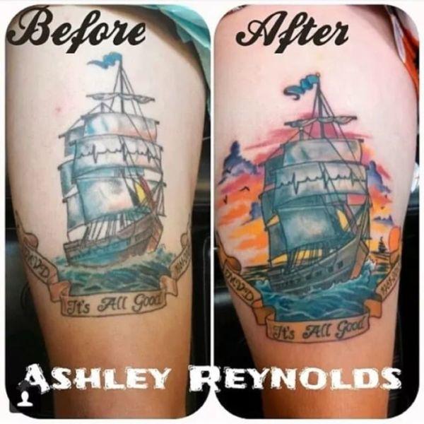 Исправление старых татуировок (16 фото)