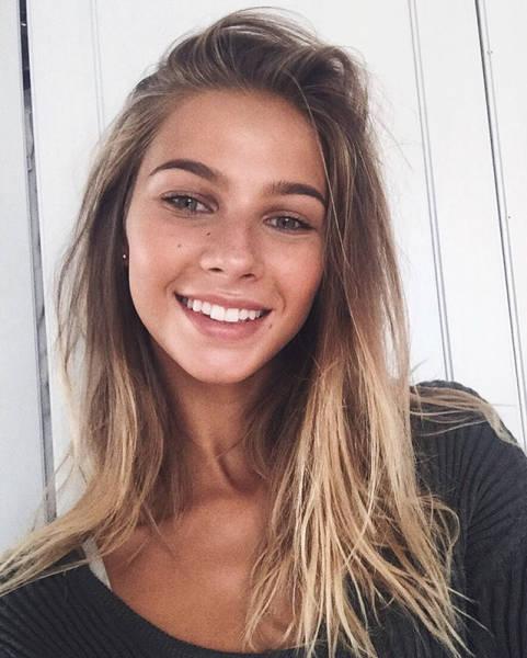 Красивые девушки, на которых приятно смотреть (33 фото)