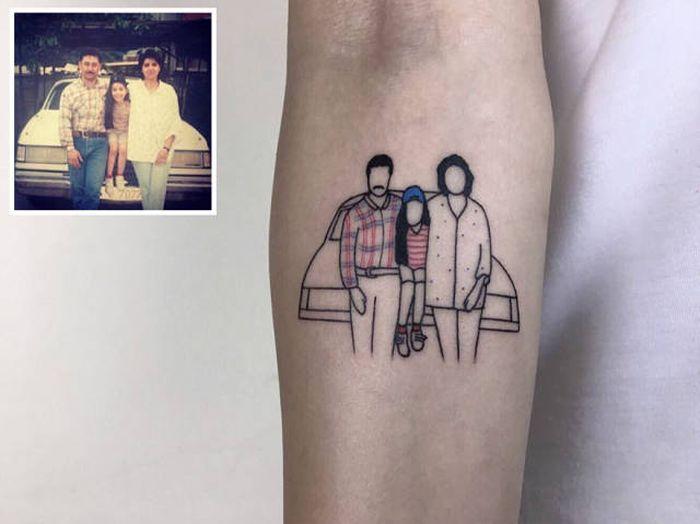 Turkas, tatuiruočių meistras, atmintinas fotografijas paverčia tatuiruotėmis (21 nuotrauka)