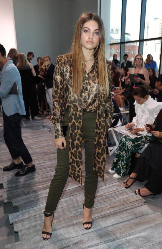 Тилан Блондо (самая красивая девочка в мире) на Неделе моды в Нью-Йорке (3 фото)