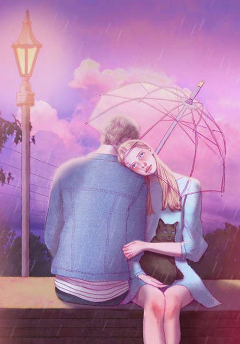Романтические рисунки Хичона Джонга (33 фото)